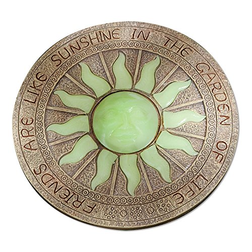 Bits and Pieces - Sun Garden Stone - Glowing Sun in The Dark Garden Stone; Garden Décor - Stone Measures 10' in Diameter