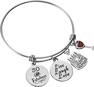 Miss Pink Birthday Jewelry Gifts for Her Stainless Steel Expandable Bangle for Your..