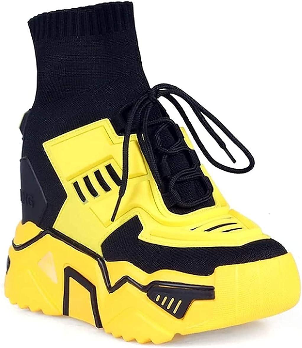 Anthony Wang Damson 06 Women's Hidden Wedge Extra High Chunky Platform Fashion Sneaker