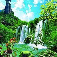 Ljjlm カスタム大フレスコ画滝風景装飾絵画自然の美しさの寝室のテレビの背景不織布壁紙-420X280Cm