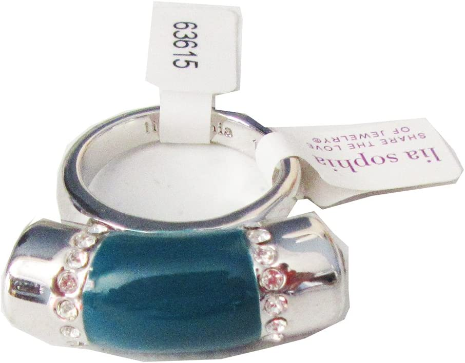 Lia Sophia Jewelry Queue Cut Crystals Ring in Siliver RV$78 Size 7