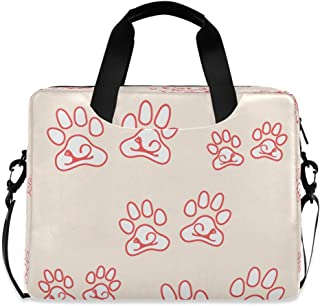 """Nice Cats Paw Animal Pink 15.6"""" 16"""" Laptop Case Sleeve Briefcase Computer Shoulder Bag W/Strap"""