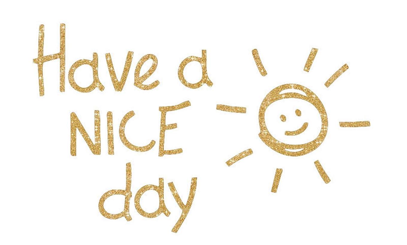 チャップカカドゥギネスChirstseason ウォールステッカー have a nice day 太陽 笑顔 キラキラ 金色 インテリア リビング 寝室 玄関 廊下 店舗 装飾 子供部屋 幼稚園 保育園用 壁紙 シール ウォールシール