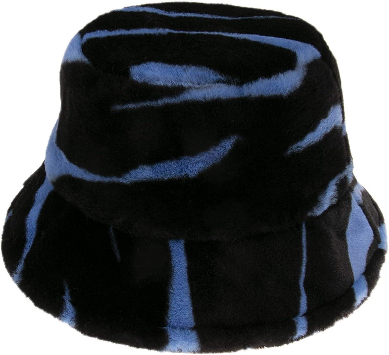 Youliy Chapeau bob unisexe /à rayures z/èbre /épais et pelucheux en peluche pour lhiver