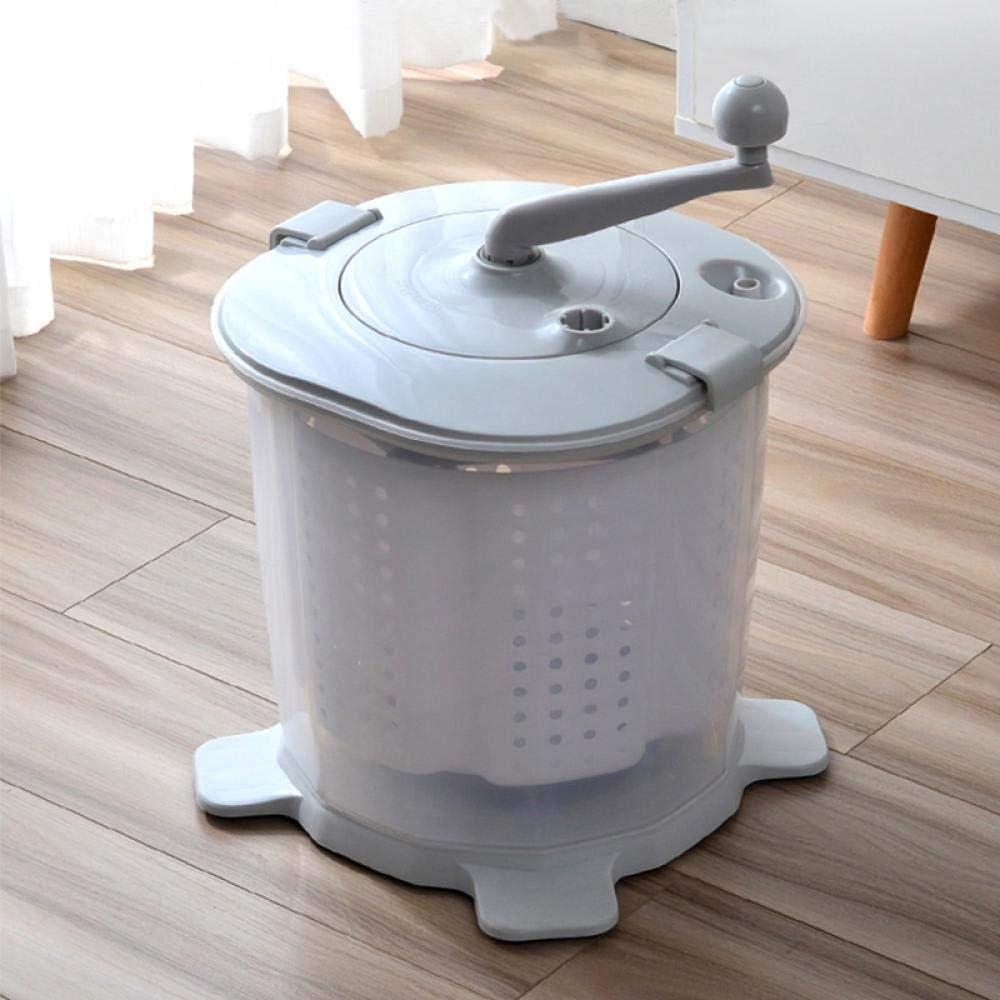 QWERASD Inicio Mini Manual Máquina de elución de Escritorio Dormitorio Estudiante Conveniente Lavadora de Mango seco de una Pieza con manivela
