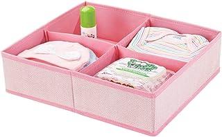 منظم خزانة ملابس من النسيج الناعم درج وخزانة التخزين، صندوق مقسم بـ 4 أقسام لغرفة الأطفال / الأطفال، الحضانة، غرفة اللعب، ...