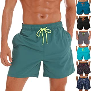 Vogyal Men's Swim Trunks Quick Dry Bathing Suit Beach Shorts with Mesh Lining