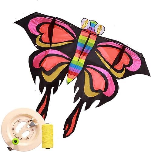 oferta de tienda GCCometa Cometa Mariposa de 6.5 pies x 5 5 5 pies con asa y Cadena para Niños Adultos Niños y niñas - Cuerda 300m  minoristas en línea