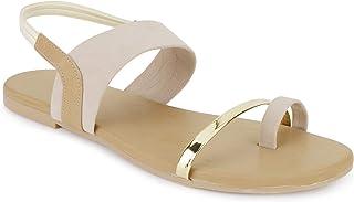 SHOFIEE Women's Ankle Strap Flat Sandal