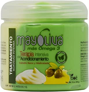 Boe Mayoliva Omega 3 Intensive Conditioning Therapy for Dry and Damaged Hair - 16 Oz, 16 Ounces