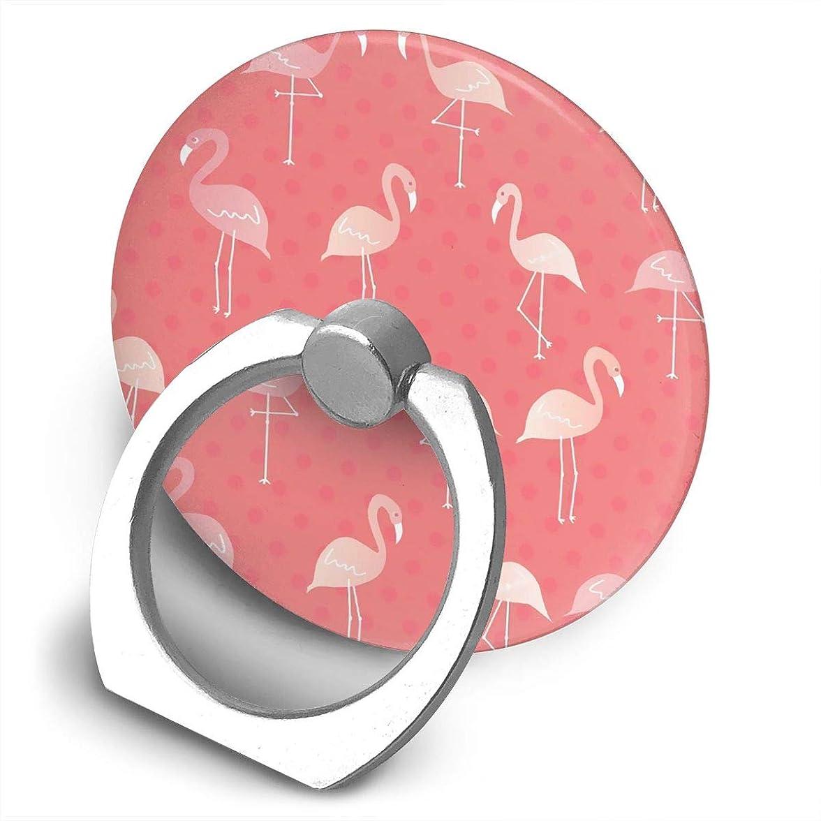 カップルご注意ロック解除フラミンゴ 360度回転 携帯リング スタンド スマホスタンド ホルダー 薄型 指輪 リング 携帯アクセサリースタンド機能 落下防止