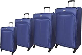 Track Luggage Trolley Bags 4 Pcs Set, Navy