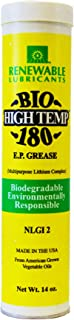 Renewable Lubricants Bio-High Temp NLGI 2 180 EP Grease, 14 oz Tube