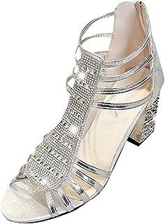 0bdf9c94610559 HLIYY Sandales Femmes Mode À La Mode à La Mode Bout Rond Boucle Sandales à  Bride