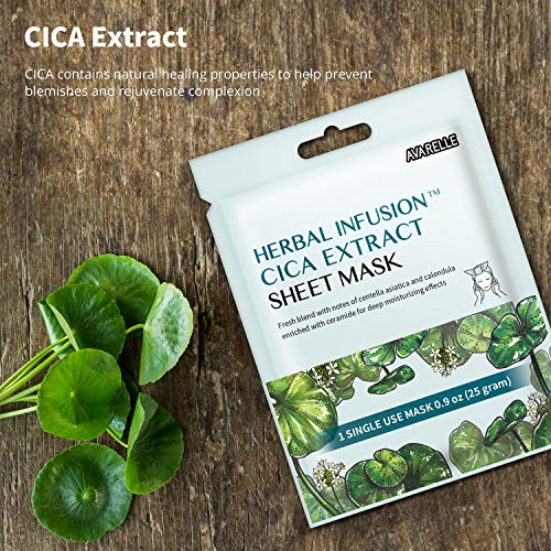 Herbal Infusion CICA Extract Sheet Mask Enriched With Calendula Oil For Acne
