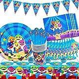 BESLIME Forniture for Feste di Compleanno for Bambini Cartone Animato A Tema Stoviglie USA E Getta Piatto di Carta Cappello Set di Tovaglie Adatto for Ragazzi Decorazioni USA e Getta