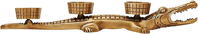 DUOWEI Pure Copper Genuine Candle Holder Shape Crocodile Brass H Tucson Mall
