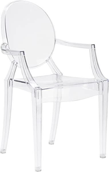 Poly And Bark Burton Arm Chair In Clear Set Of 4