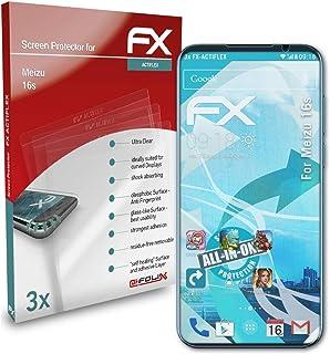 atFoliX Skärmskydd är kompatibel med Meizu 16s Film, ultraklart och flexibelt FX Skärmskyddsfilm (3X)