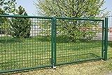 FORMAT Puerta para jardín (2 hojas, 3000 x 1750 mm), color verde