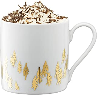 LSA international Fir coffee & tea mug, 11.5 fl oz, Gold