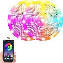 ELEAD LED Strip Light Smart 10M LED Strip Kit Light Bar Decoration Tape Light RGB Color Remote Control Sync to Music Flexi...
