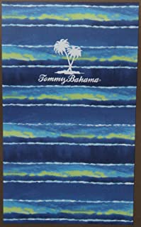 Tommy Bahama Blue/Green Striped Beach Towel - 40