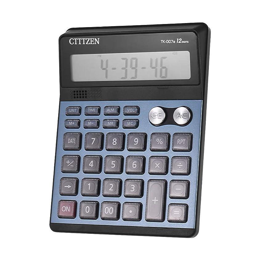 献身マインドフル店員Aibecy TK-007e 電卓 卓上 大画面12桁 計算機 プラスチックボタン 本物の人間の声によるプロンプト スタイリッシュな形