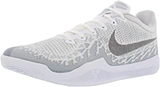 Nike Men's Kobe Mamba Rage Basketball Shoes (9, White/Black/Pure Platinum)
