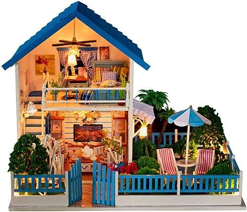 Con precio barato para obtener la mejor marca. Ouqian Juguetes Juguetes Juguetes y juegos Kit de casa de muñecas en Miniatura Kits de casa de muñecas en Miniatura de Madera acogedora 3D con luz LED hogar Creativo Hecho a Mano Regalos para mujeres y niñas  Web oficial
