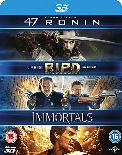 47 Ronin / RIPD / Immortals 3D [Blu-ray] [2011] [Region Free]
