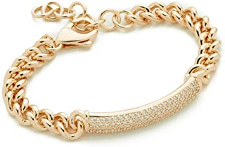Amlaiworld Fashion Women Bracelets Crystal Rhinestone Charm Cuff Bracelet Bangle Chain Jewelry