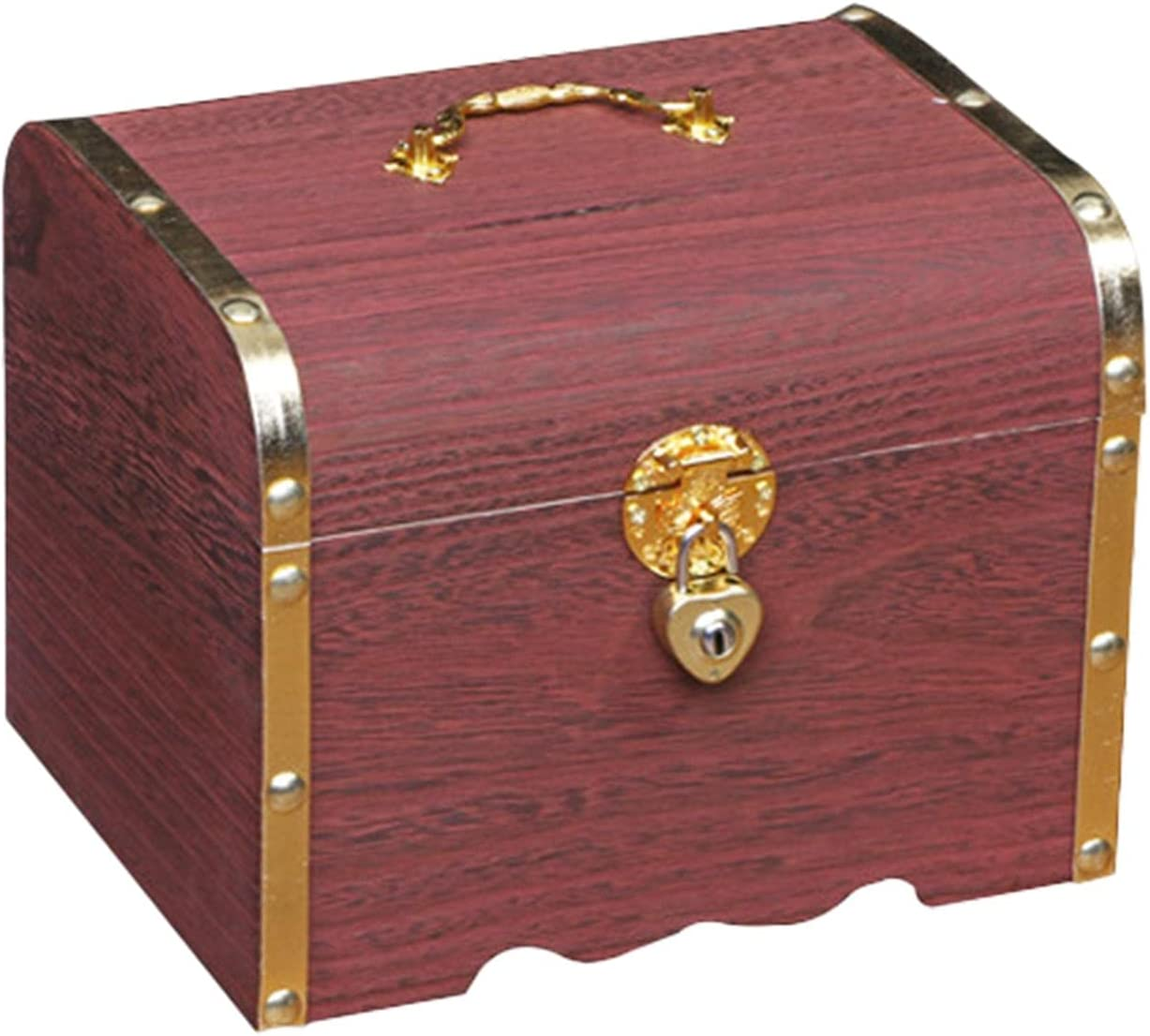 GEZICHTA Wooden Treasure Sales Chest Coin Vintage Free Shipping New P Box