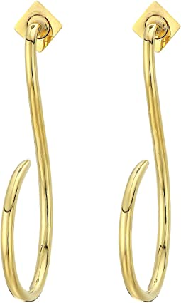 Linear Hoop Earrings