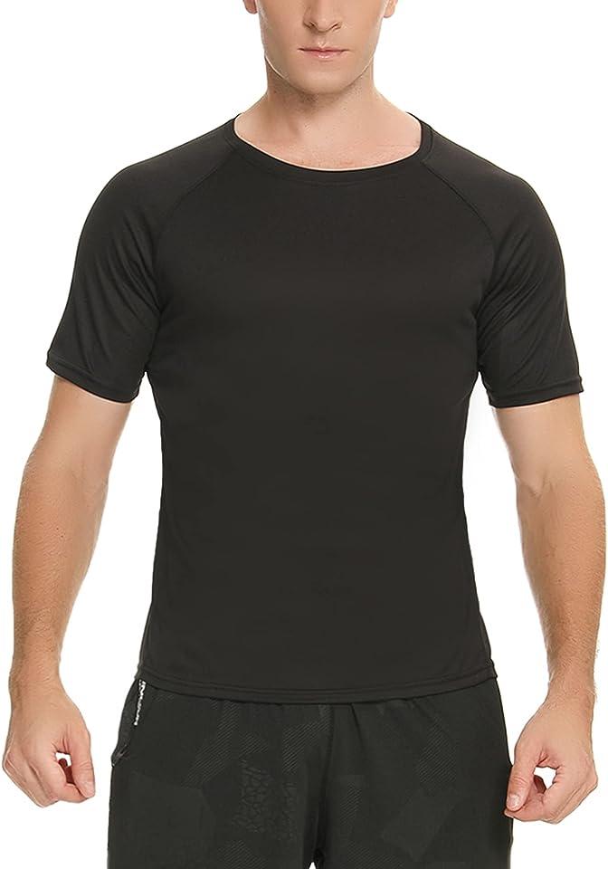 Herren Kurzarm Sport T-Shirt Sommer Rundhals-Tee Basic Sportswear Running Shirt Casual Tops Schnell trocknende Tops für Laufen Jogging Fitness Gym