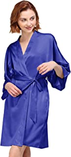 AW Women's Silky Robe, Satin Kimono Bathrobe for Wedding Party Brides Bridesmaids Loungewear