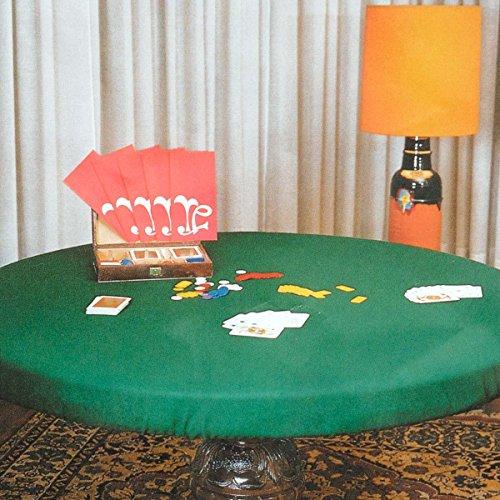 Copritavolo panno verde per tavolo da gioco rotondo - 120 cm L962