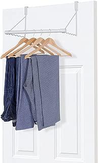 MaidMAX Metal Over The Door Closet Rods, Over Door Clothes Organizer Hanger Rack for Clothing or Towel, White