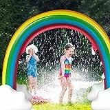 Juguete de Agua Pulverizada Almohadilla Cojín Aspersor para bebé niños Verano Césped de jardín al Aire Libre Spray de Agua Inflable Arcoiris Chapoteo