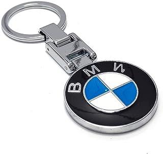 BMW Key chain from metal nickel plated double logo intermediate quality
