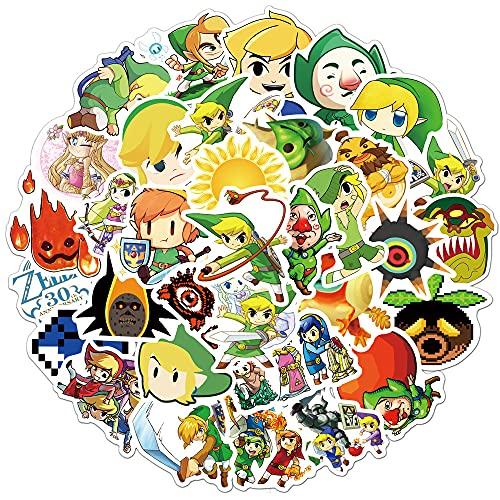 YOUKU Zelda Legend Graffiti Pegatina Equipaje Motocicleta Cuaderno Taza de Agua Pegatina Impermeable 50 Uds