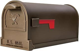 Gibraltar Mailboxes Arlington Large Capacity Galvanized Steel Bronze, Post-Mount Mailbox, AR15T000