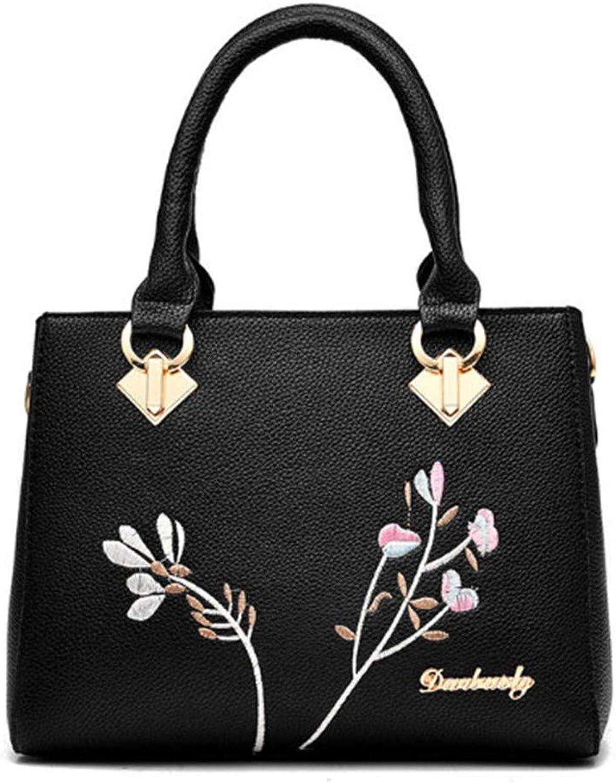 Handtasche, Umhngetasche, Umhngetasche,damen Summer PU Leather Luxury Handbag Designer Soft Bag Inclined Shoulder Embroidery Female Leather Shoulder Bag Dropshipping