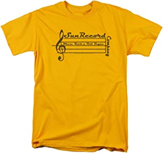Sun Records Music Staff Adult T-Shirt