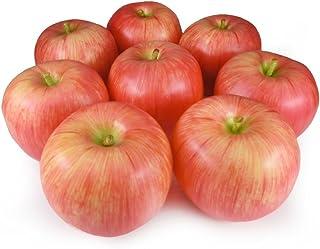 GuCra りんご 本物そっくりな模型 8個セット 食品サンプル 果物模型 (紅UP)