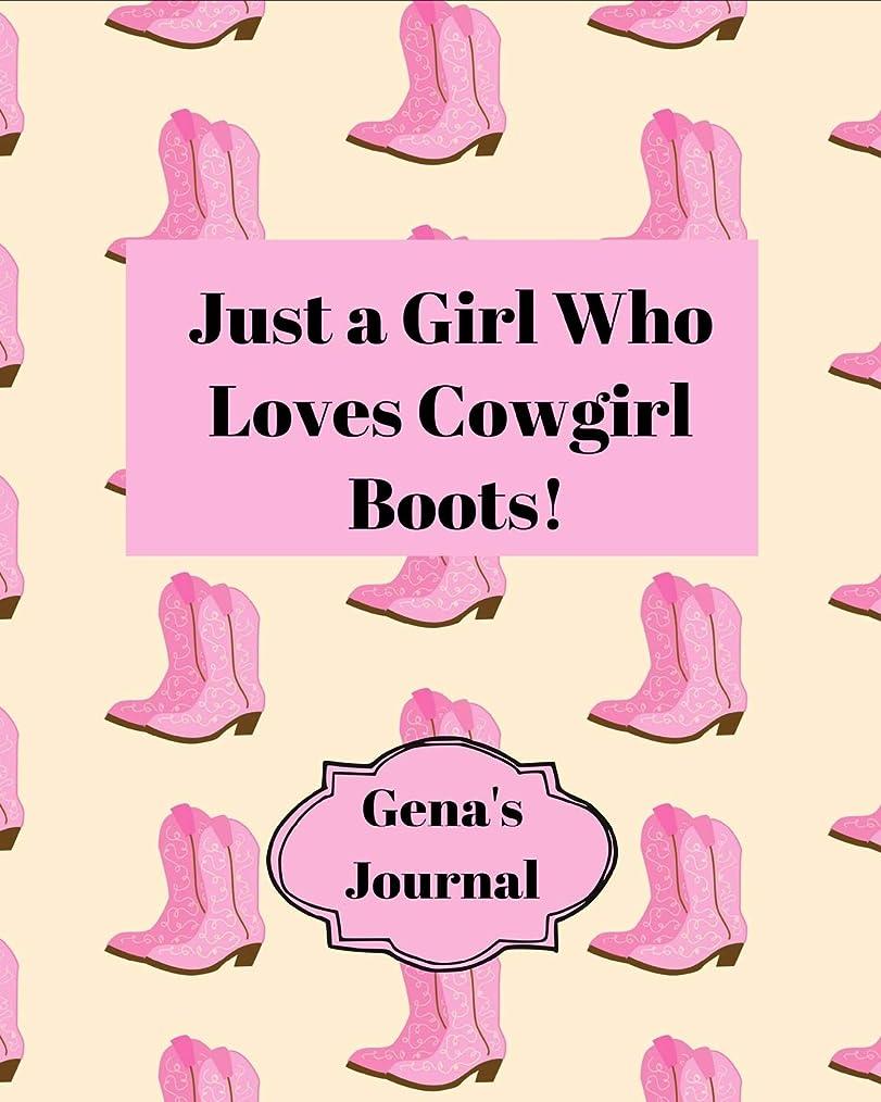 蒸発固執ルネッサンスGena's Journal: Personalized Story Journal With Name For Girls - Dotted Midline and Picture Space | Composition Notebook For Creative Doodling and Taking Notes - School Exercise Book - Pink Cowgirl Boots Design