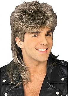 Baruisi 80s Men's Mullet Wig Blonde Cosplay Halloween Wig for Fancy Dress