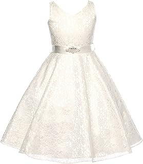 Olivia KOO Lovely Lace V-Neck Flower Girl Dress