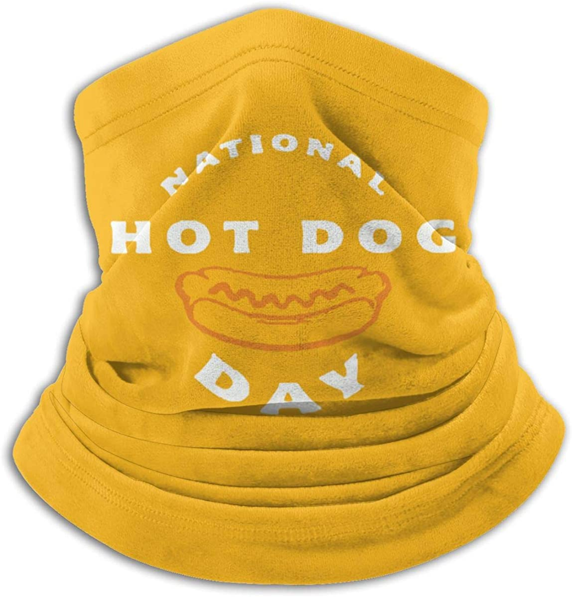 National Hot Dog Day9 Black Multi-function Neck Warmer Gaiter Polyester Neck Warmer Windproof Winter Neck Gaiter Cold Weather Scarf For Men Women