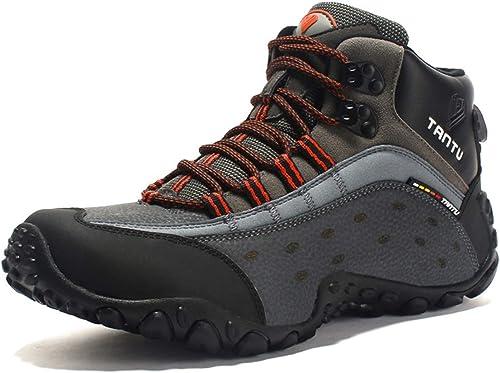 MERRYHE Chaussures d'escalade pour Hommes Chaussures de Sport en Plein air Trekking Chaussures de randonnée Chaussures d'alpinisme pour Camping Chaussures d'escalade de Cross-Country